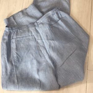 Chico's Design Blue linen pants size 3